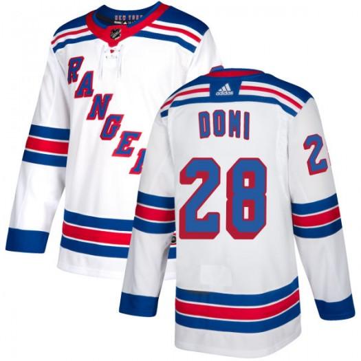 Tie Domi New York Rangers Men's Adidas Authentic White Jersey