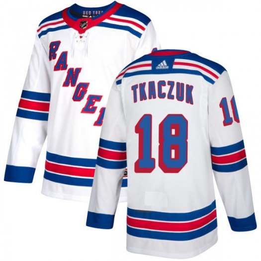 Walt Tkaczuk New York Rangers Men's Adidas Authentic White Jersey