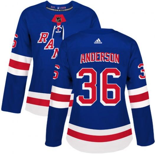 Glenn Anderson New York Rangers Women's Adidas Authentic Royal Blue Home Jersey