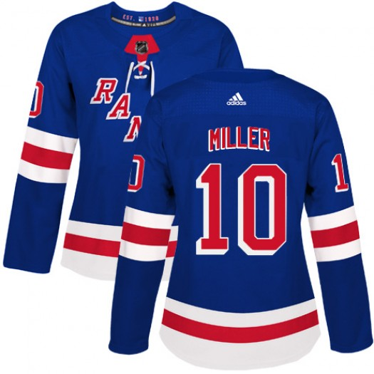 J.T. Miller New York Rangers Women's Adidas Authentic Royal Blue Home Jersey