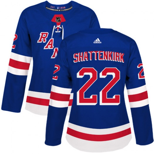 Kevin Shattenkirk New York Rangers Women's Adidas Authentic Royal Blue Home Jersey