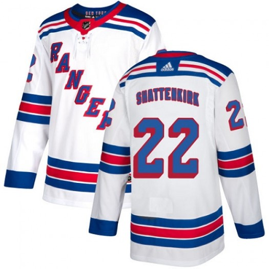 Kevin Shattenkirk New York Rangers Youth Adidas Authentic White Away Jersey