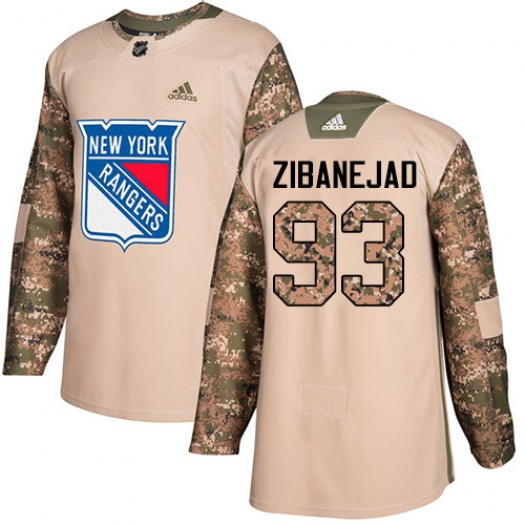 Mika Zibanejad New York Rangers Men's Adidas Premier White Away Jersey