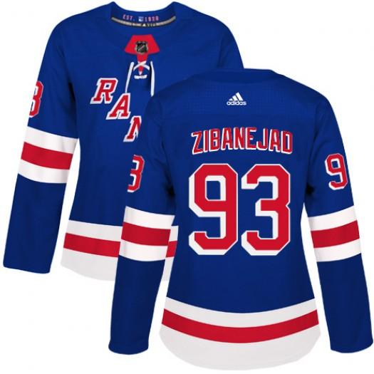 Mika Zibanejad New York Rangers Women's Adidas Authentic Royal Blue Home Jersey