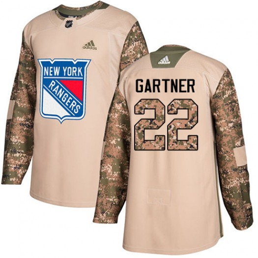 Mike Gartner New York Rangers Men's Adidas Premier White Away Jersey