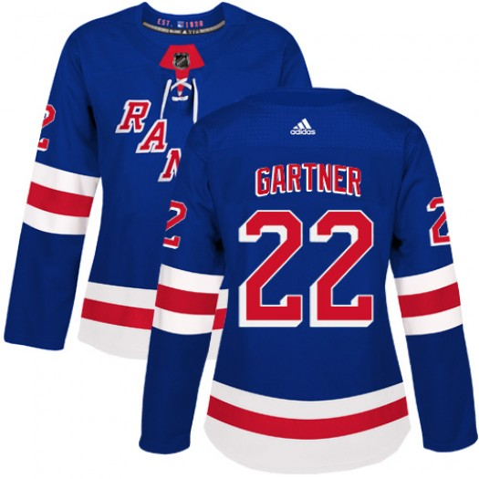 Mike Gartner New York Rangers Women's Adidas Authentic Royal Blue Home Jersey