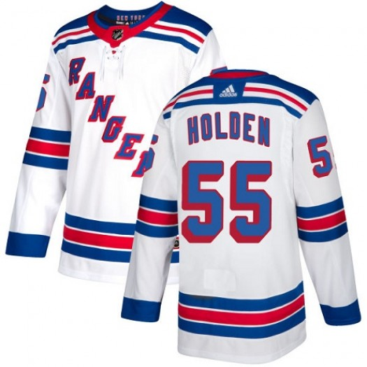 Nick Holden New York Rangers Women's Adidas Authentic White Away Jersey