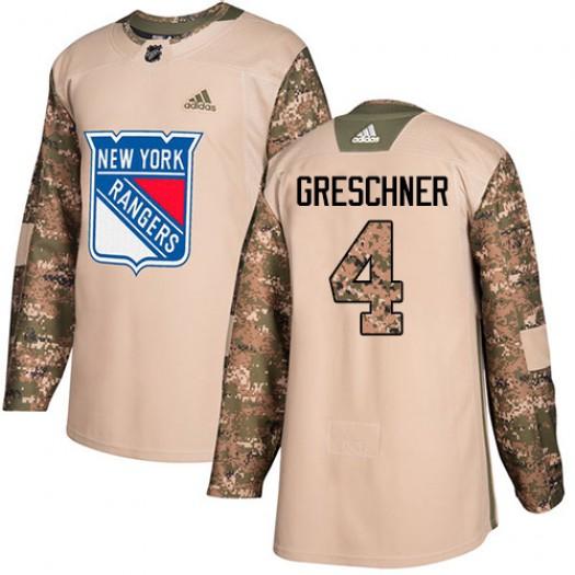Ron Greschner New York Rangers Men's Adidas Premier White Away Jersey