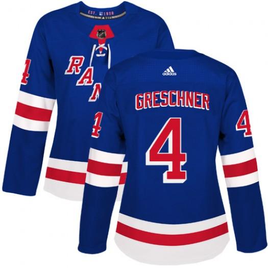 Ron Greschner New York Rangers Women's Adidas Authentic Royal Blue Home Jersey