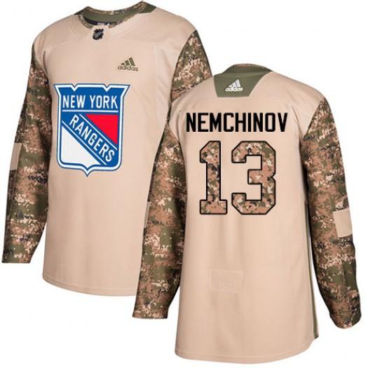 Sergei Nemchinov New York Rangers Men's Adidas Premier White Away Jersey