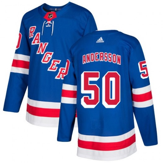 Tanner Glass New York Rangers Women's Adidas Premier Royal Blue Home Jersey