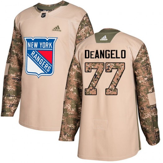 Anthony DeAngelo New York Rangers Youth Adidas Authentic Camo Veterans Day Practice Jersey