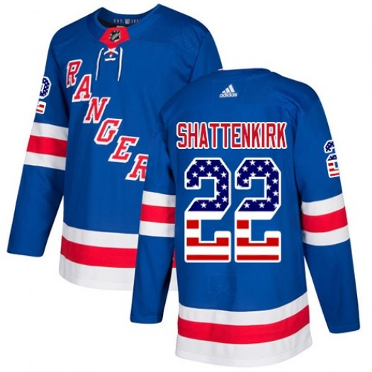 Kevin Shattenkirk New York Rangers Youth Adidas Authentic Royal Blue USA Flag Fashion Jersey