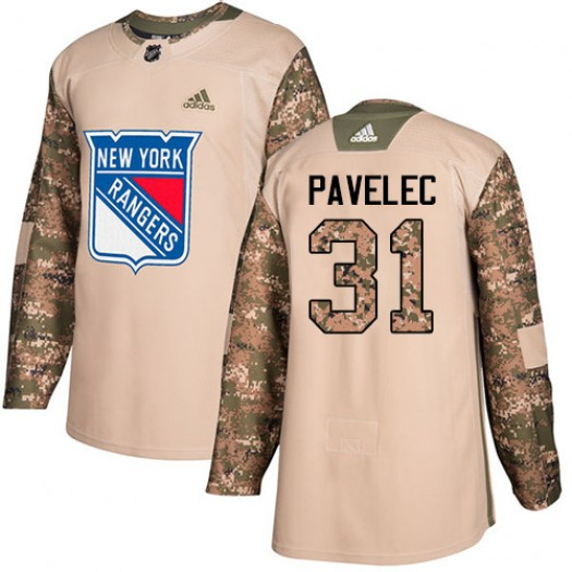 Ondrej Pavelec New York Rangers Men's Adidas Authentic Camo Veterans Day Practice Jersey