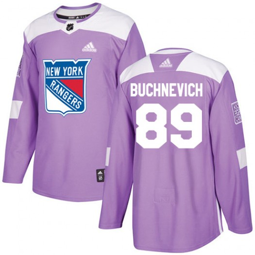 5a865ee67 Pavel Buchnevich New York Rangers Youth Adidas Authentic Purple Fights  Cancer Practice Jersey