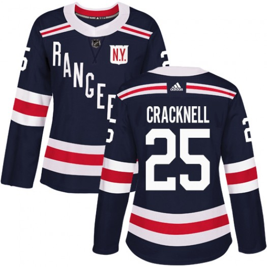 Adam Cracknell New York Rangers Women's Adidas Authentic Navy Blue 2018 Winter Classic Jersey