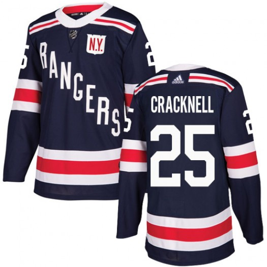 Adam Cracknell New York Rangers Youth Adidas Authentic Navy Blue 2018 Winter Classic Jersey