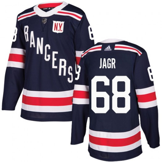 Jaromir Jagr New York Rangers Men's Adidas Authentic Navy Blue 2018 Winter Classic Jersey