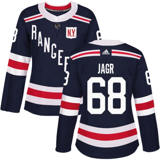 Jaromir Jagr New York Rangers Women's Adidas Authentic Navy Blue 2018 Winter Classic Jersey