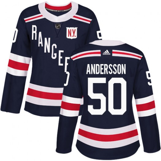 Lias Andersson New York Rangers Women's Adidas Authentic Navy Blue 2018 Winter Classic Jersey