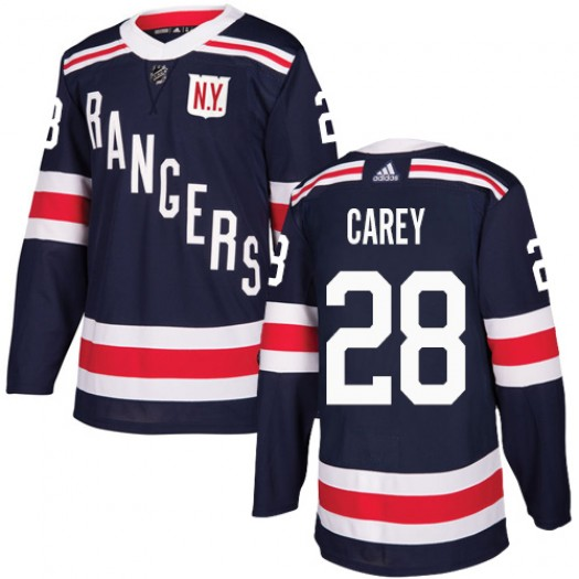 Paul Carey New York Rangers Youth Adidas Authentic Navy Blue 2018 Winter Classic Jersey