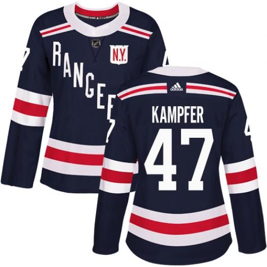 Steven Kampfer New York Rangers Women's Adidas Authentic Navy Blue 2018 Winter Classic Jersey