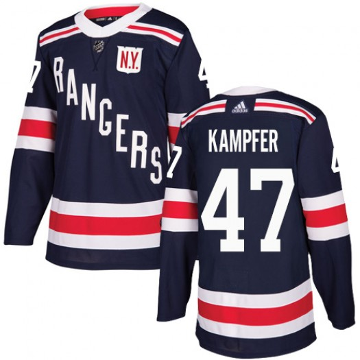 Steven Kampfer New York Rangers Youth Adidas Authentic Navy Blue 2018 Winter Classic Jersey